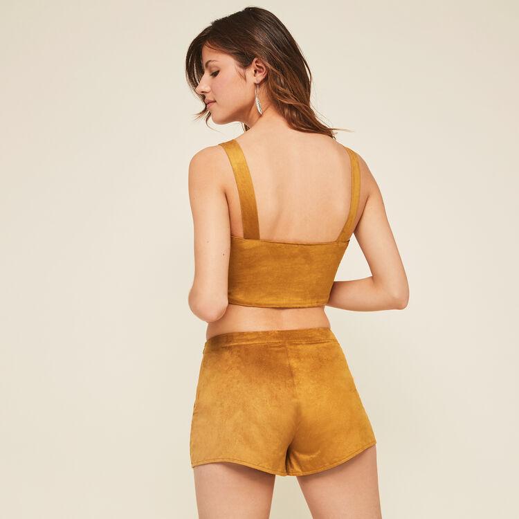 Newsuediniz ochre shorts;