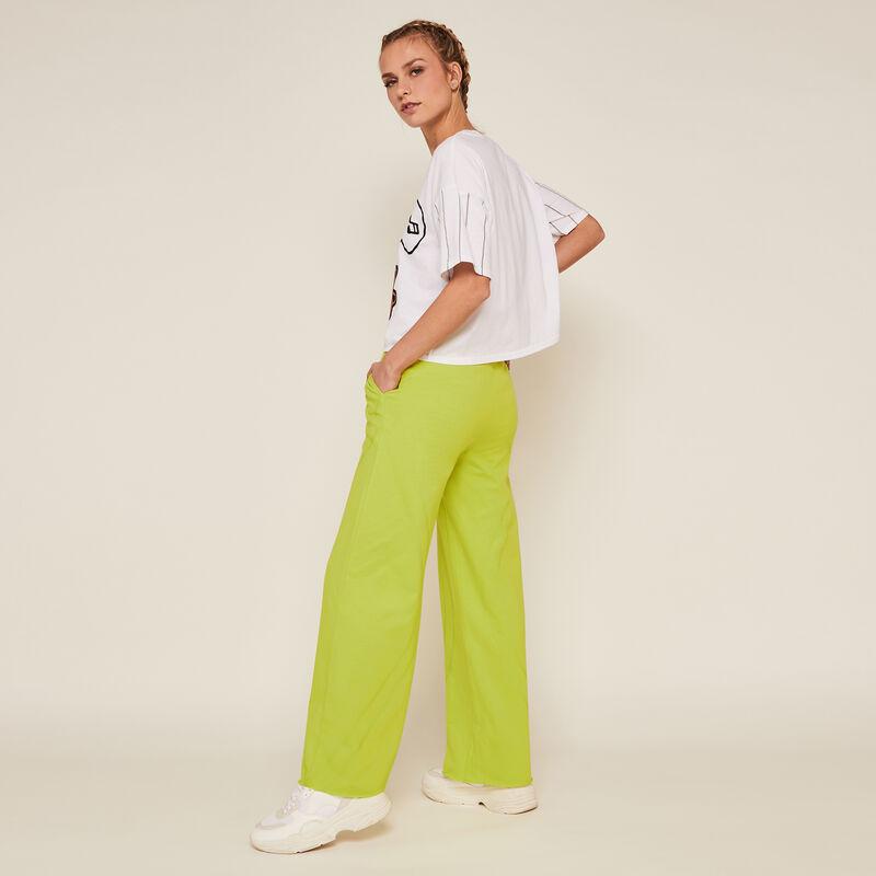 Plain jogging bottoms - green;