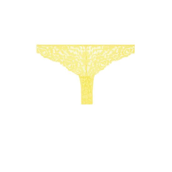 Желтые трусики-танга luluiz;