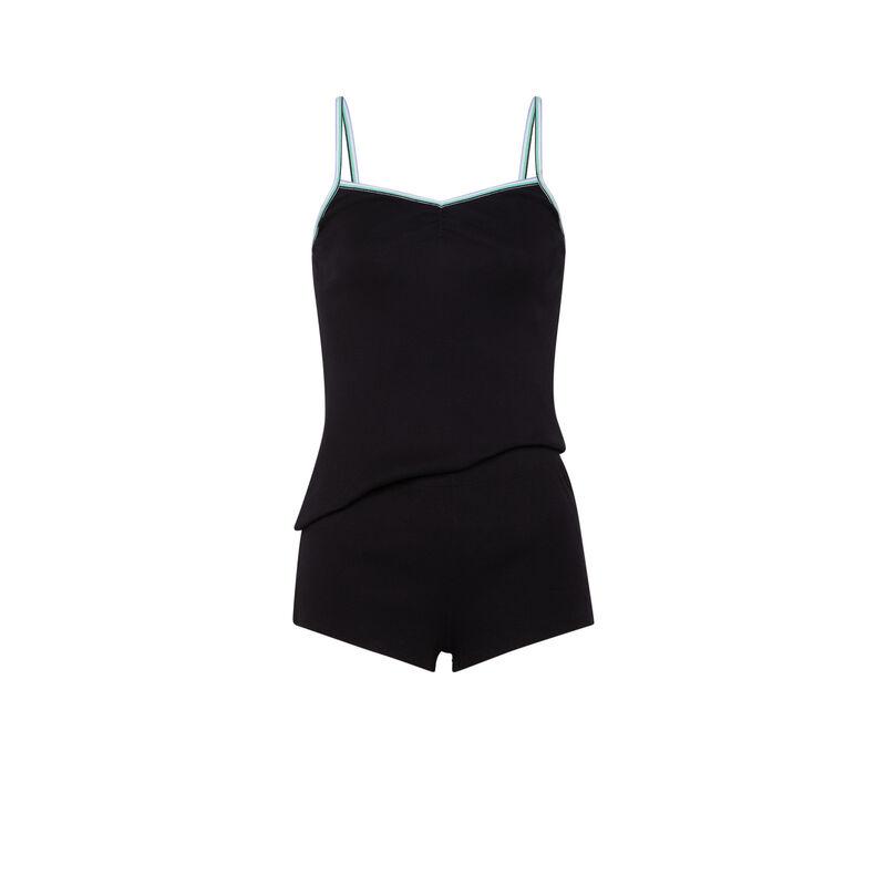 Camisole + shorts set - black;