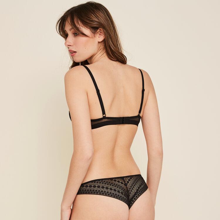 Cupiniz black push-up bra;