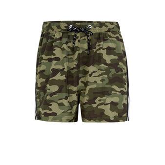 Shorts de baño color caqui camorayiz green.