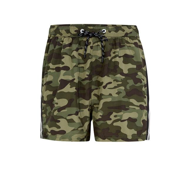 Camorayiz khaki swim shorts;