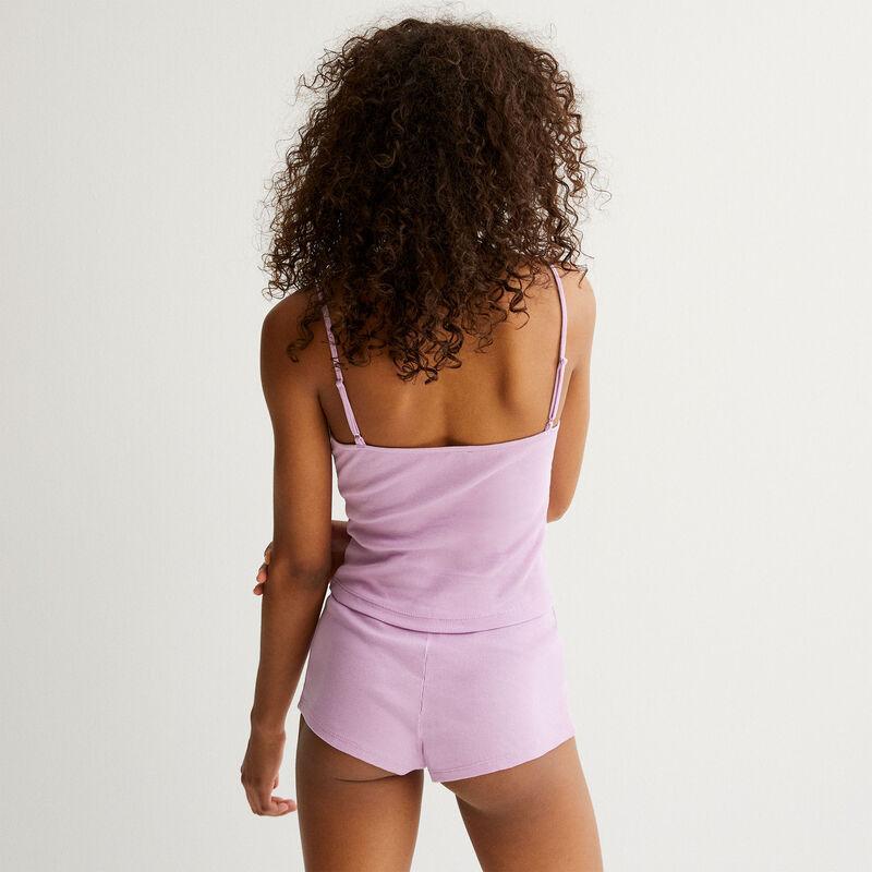 однотонный пижамный комплект - лиловый;
