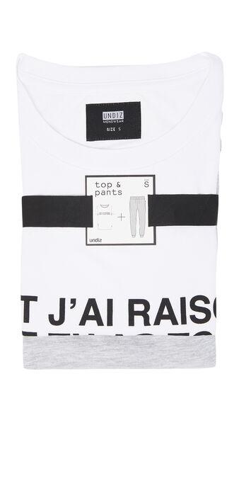 Weißes pyjama-set für herren soitiz white.