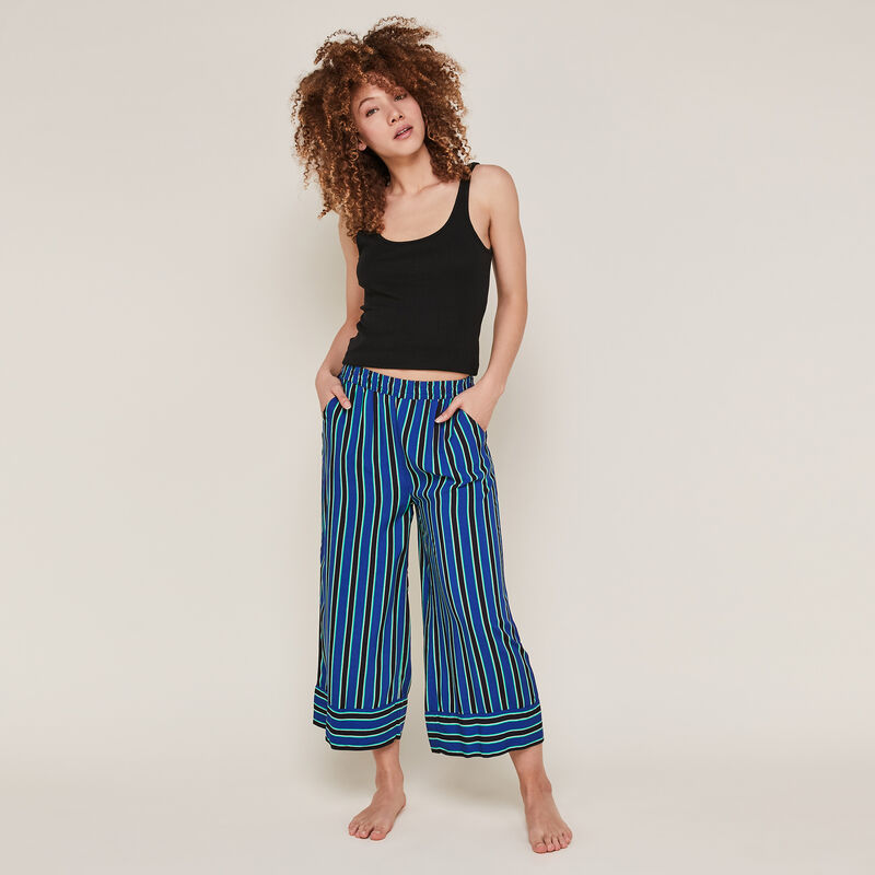 Striped trousers - blue;