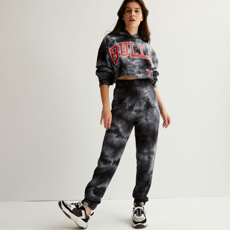 Smoke print jogging bottoms - black;