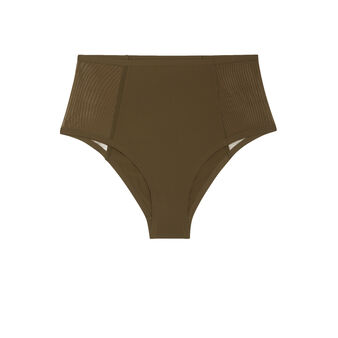 New micro khaki high-waist briefs green.