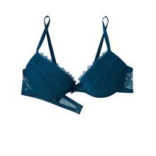 Basiciz blue push-up bra blue.