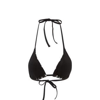 Черный верх купальника с треугольными чашками roxaniz  black.