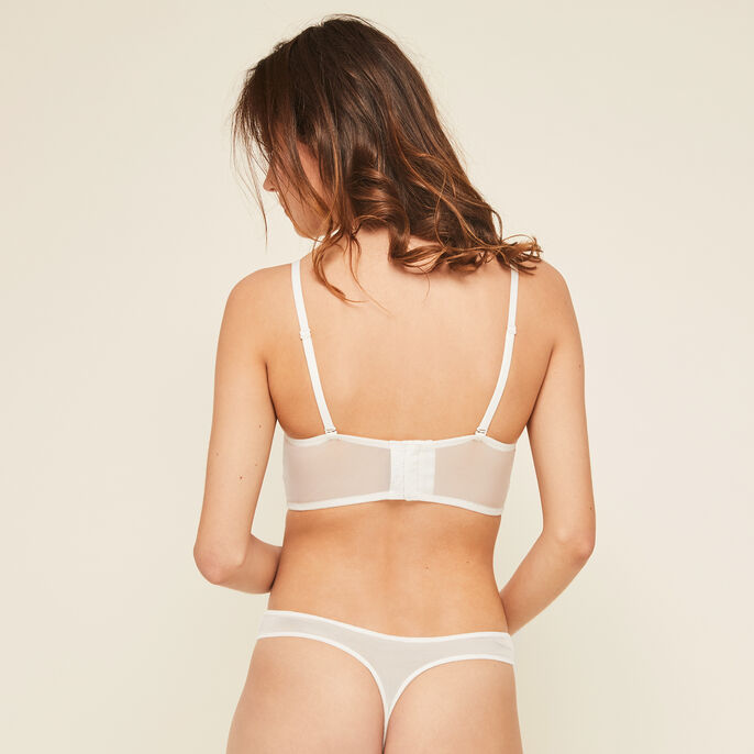 Mexiciz off-white push-up bustier bra off-white.