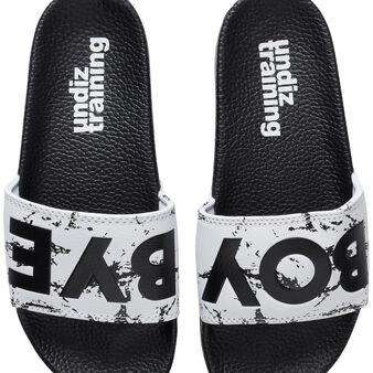 Claketiz white flip flops white.
