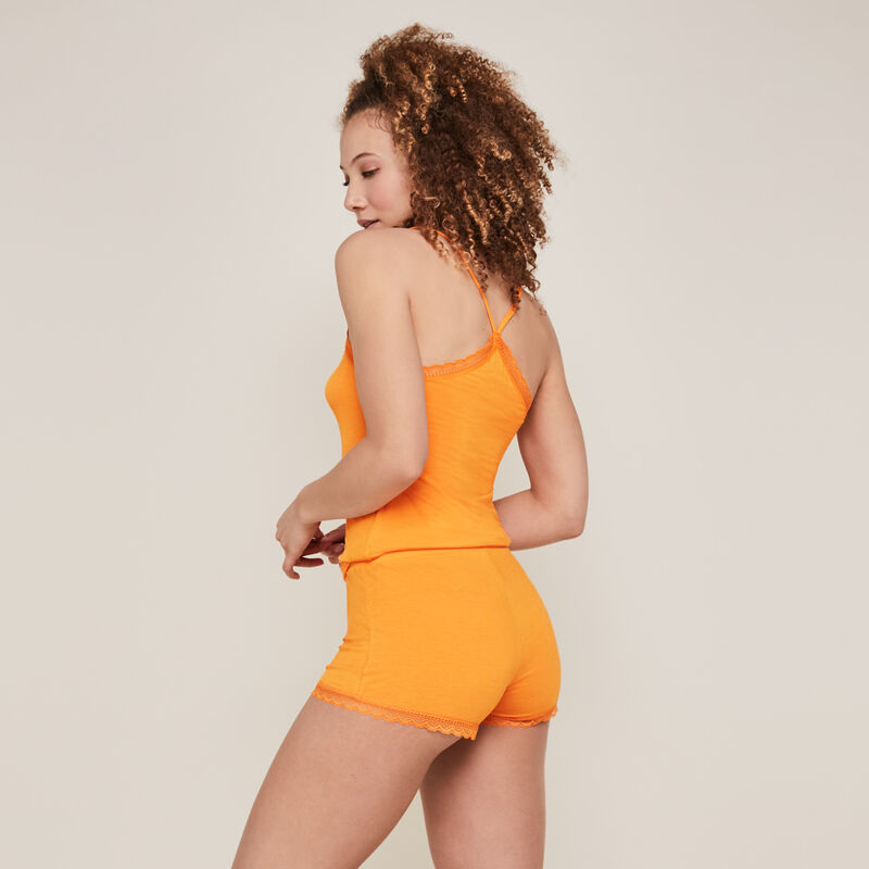 Top with thin straps - orange;