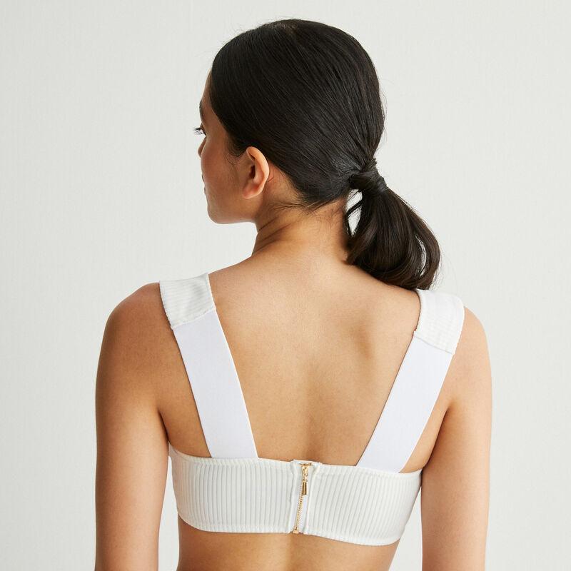micro balconette bra - white;