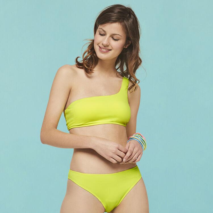 Fluorescent yellow swimsuit nosymetriz;