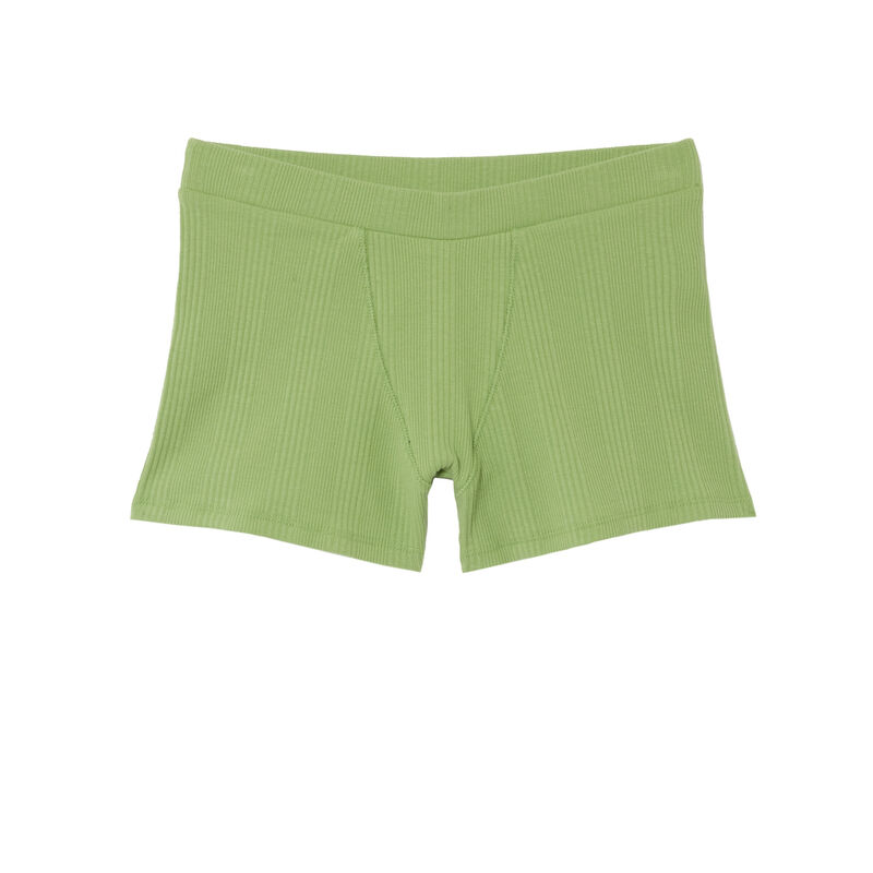 Plain jersey unisex shorts - green;