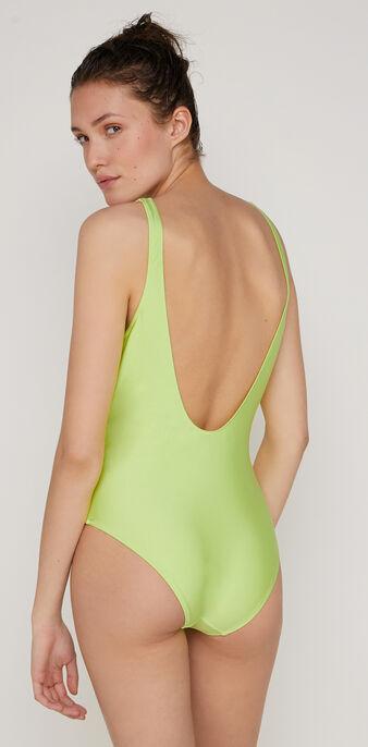 Flamingiz fluorescent green one-piece swimsuit green.