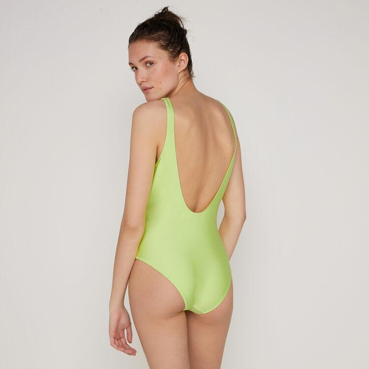 Leuchtgrüner Badeanzug Flamingiz;
