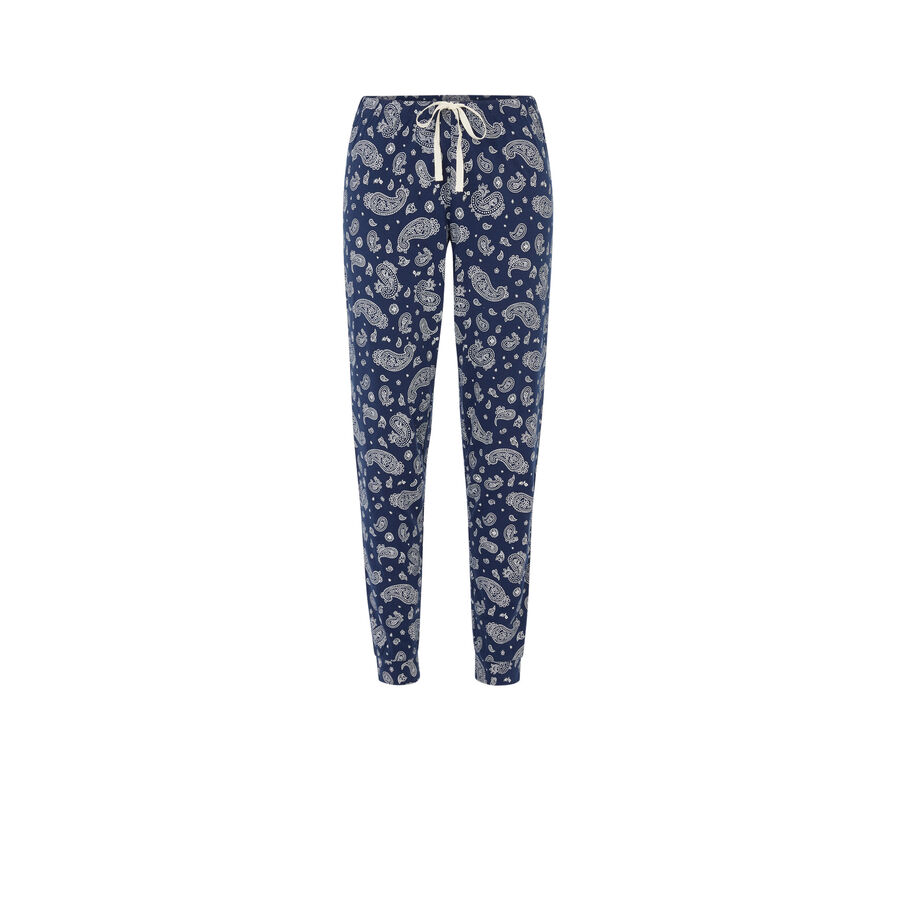 Bluebaniz blue with jogging bottoms;