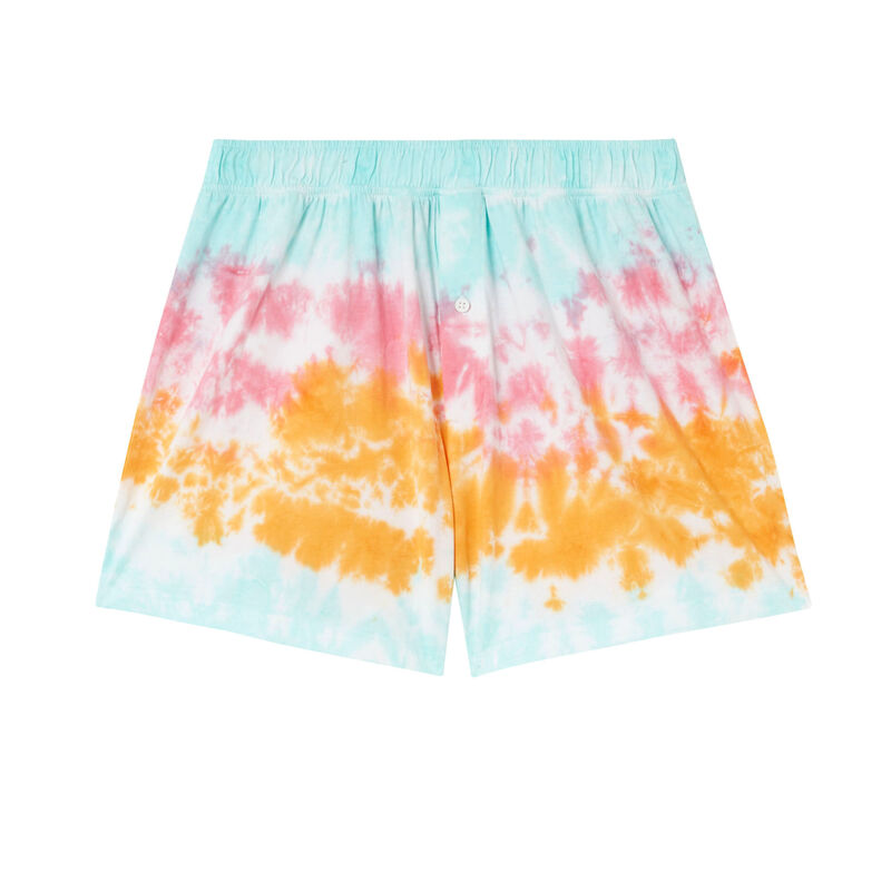 tie-dye cotton printed boxers - mango;