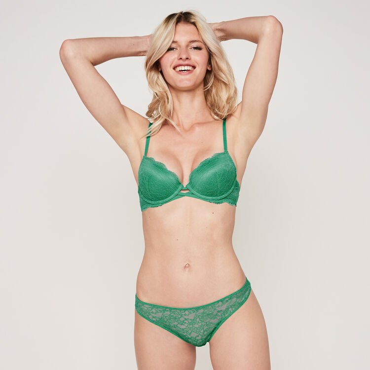 EVERYDAYIZ emerald-green TANGA;
