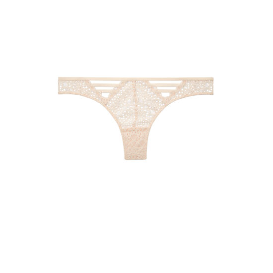 Paroliz peach-colored tanga;