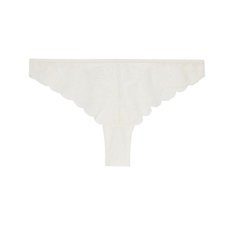 lace tanga briefs with double ties;