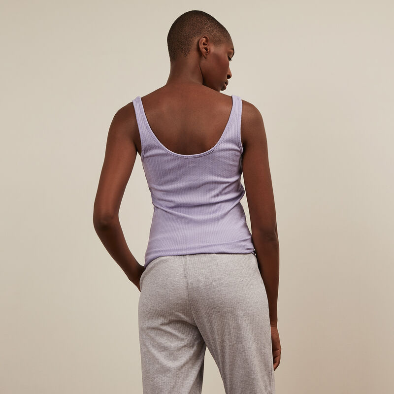 Plain jersey tank top - lilac;