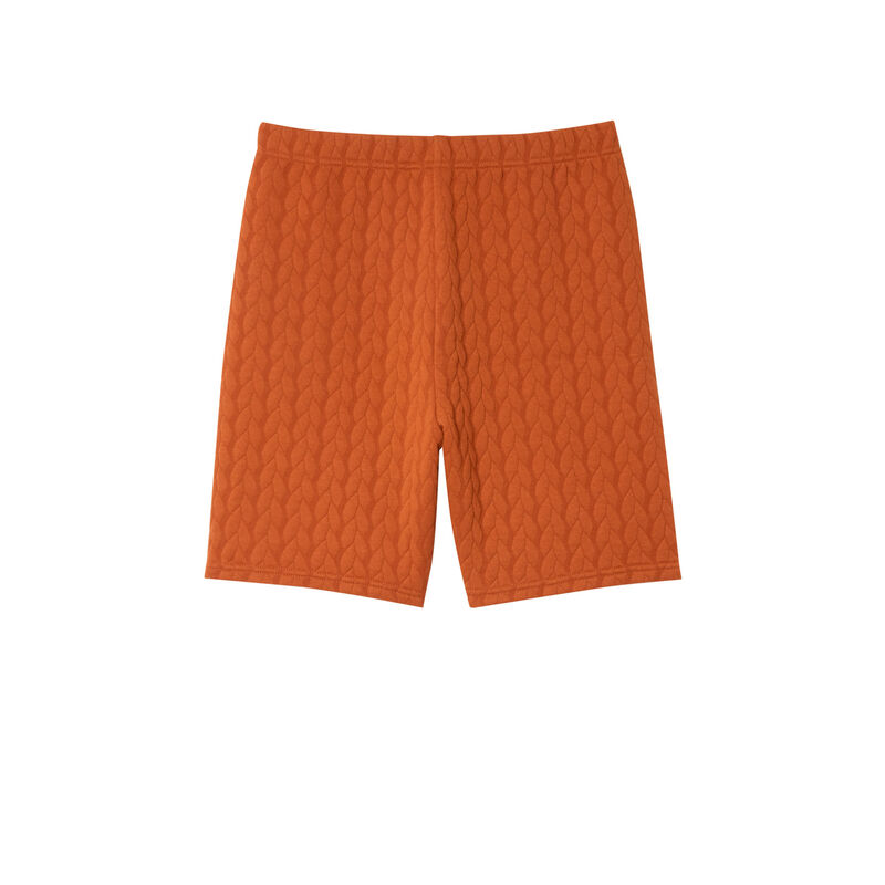 cycling shorts with twisted reliefs - brown;