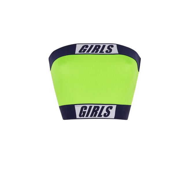 Fluorescent yellow girlbandiz top;