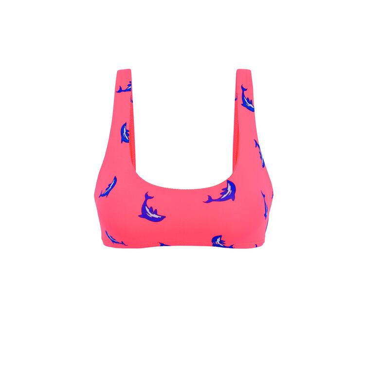 Флуоресцентно-розовый верх купальника flipperiz;