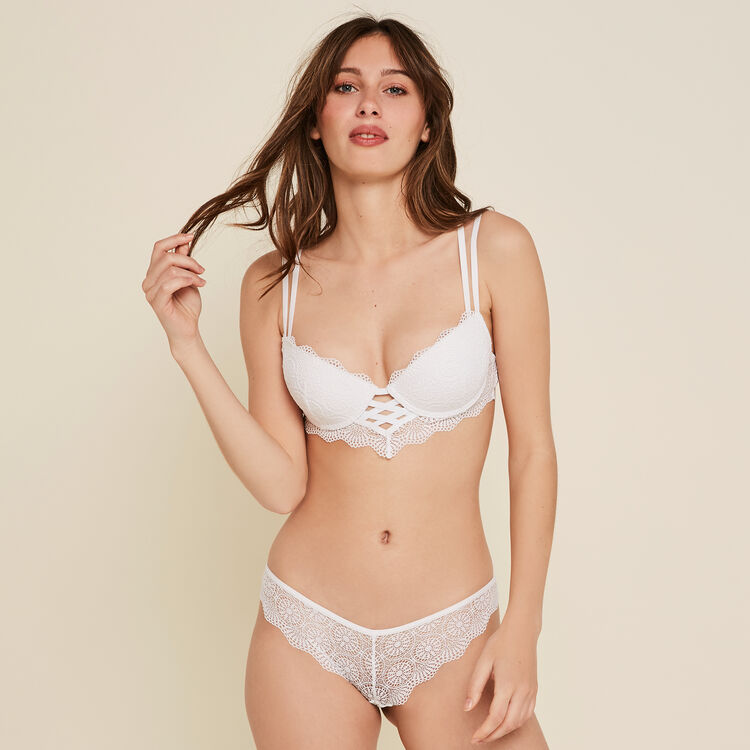 TOTOIZ WHITE PUSH-UP BRA;
