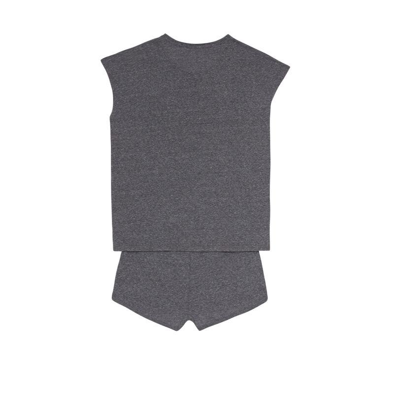 plain pyjama set - grey;