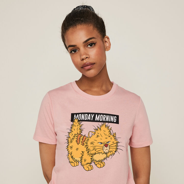 Nompndayiz Toulouse print short-sleeved Aristocats top;