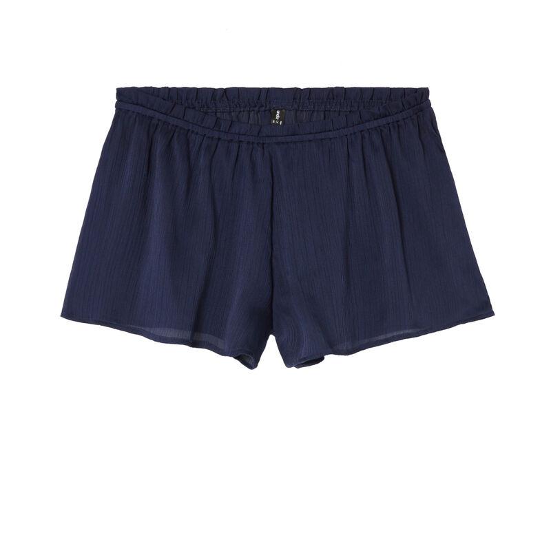 flowing ruffled shorts - blue;