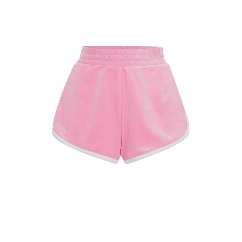 Однотонные шорты из бархата - розовый;