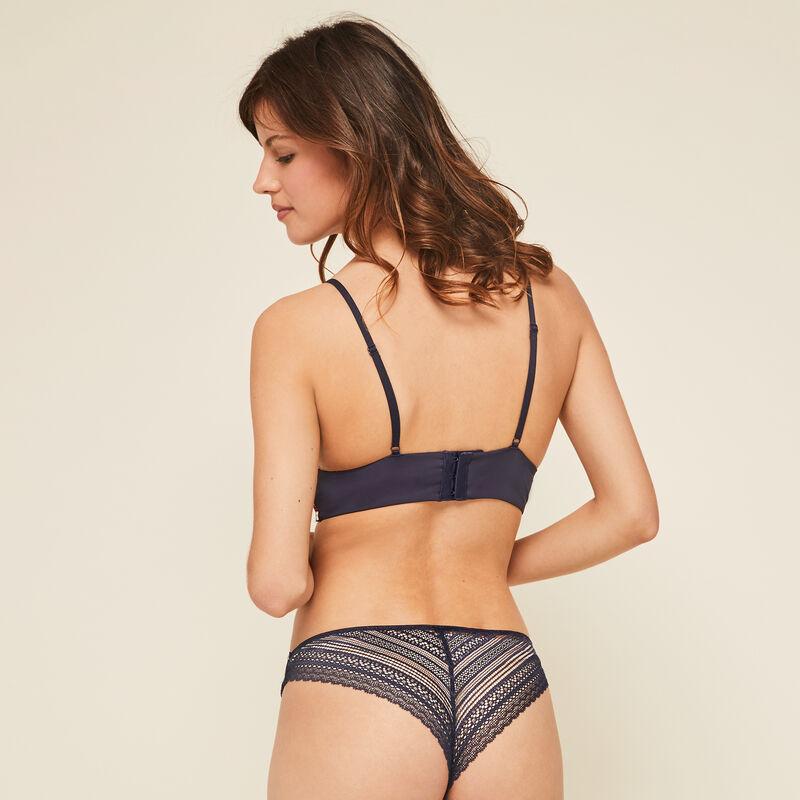 Valliz navy blue triangle push-up bra;