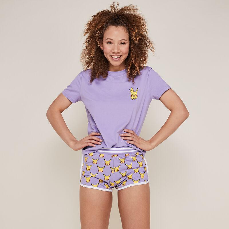 Szorty z Pikachu — lila;