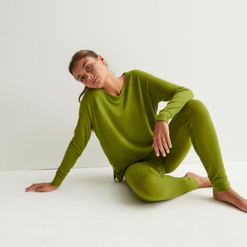 mesh trousers - khaki;