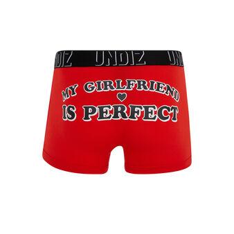 Wordiz red boxer shorts red.