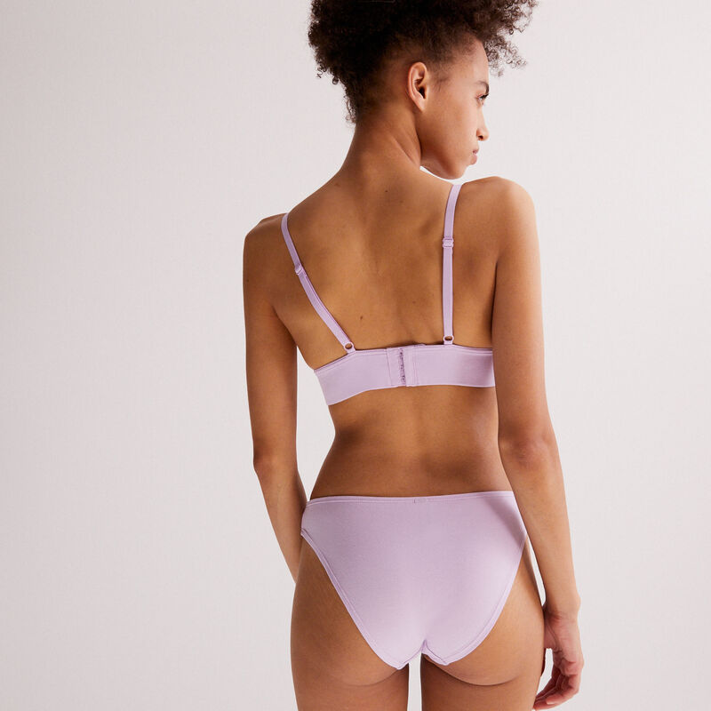 amplifier triangle bustier - lilac;
