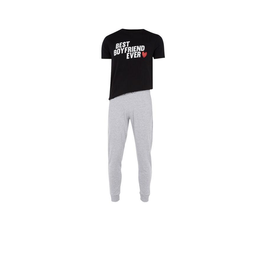 Черный мужской пижамный комплект boyfriz;