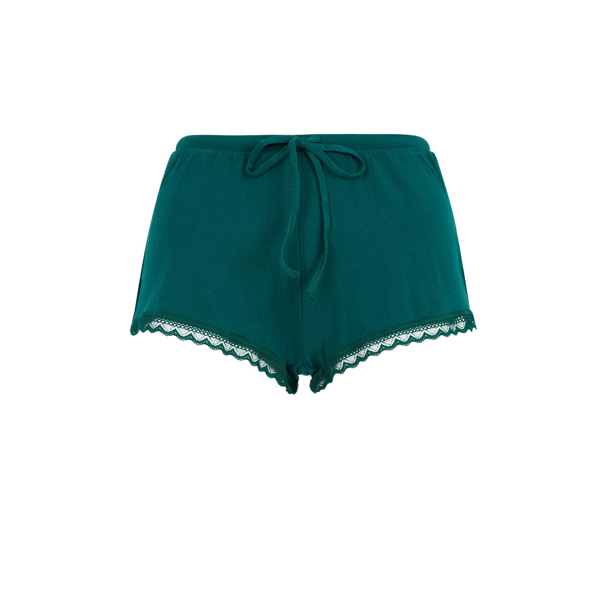 Vitamiz jersey shorts with lace yoke