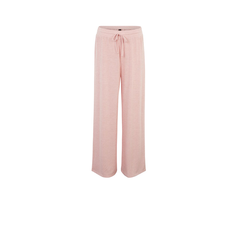 wide-leg trousers and drawstring - pink;