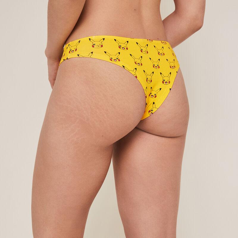 Cotton Pikachu tanga briefs - yellow ;