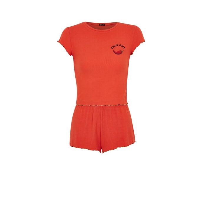 Conjunto coral guapiz orange.