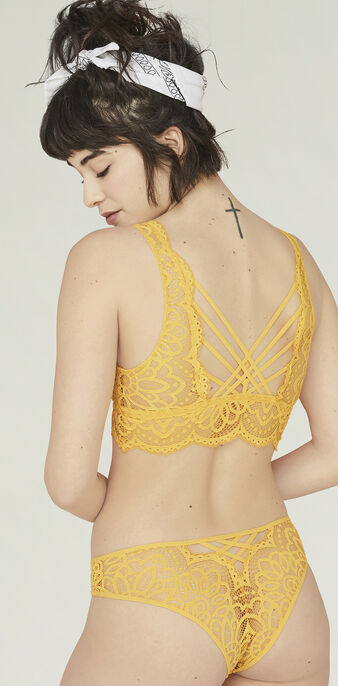 American dreamiz yellow bra yellow.