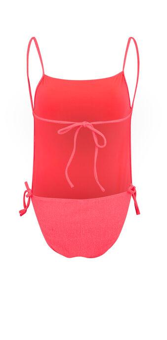 Sikiniz fluorescent pink one-piece swimsuit pink.