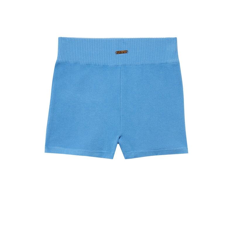 шорты-велосипедки из джерси - синий;