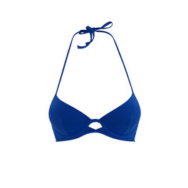Gabiz blue push-up bikini top blue.